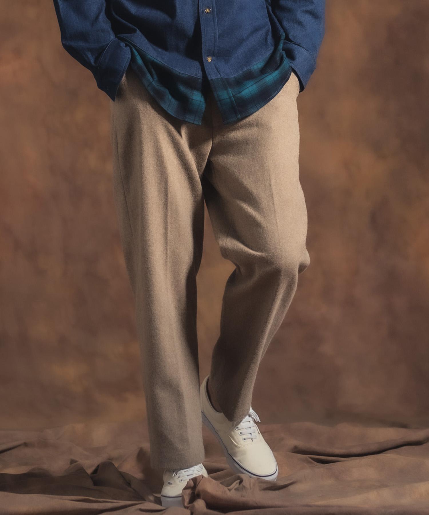 【Jih Nunc(ジーヌンク)】【予約販売10月中旬~下旬入荷】起毛テーパードスラックス(JIH-K0186)