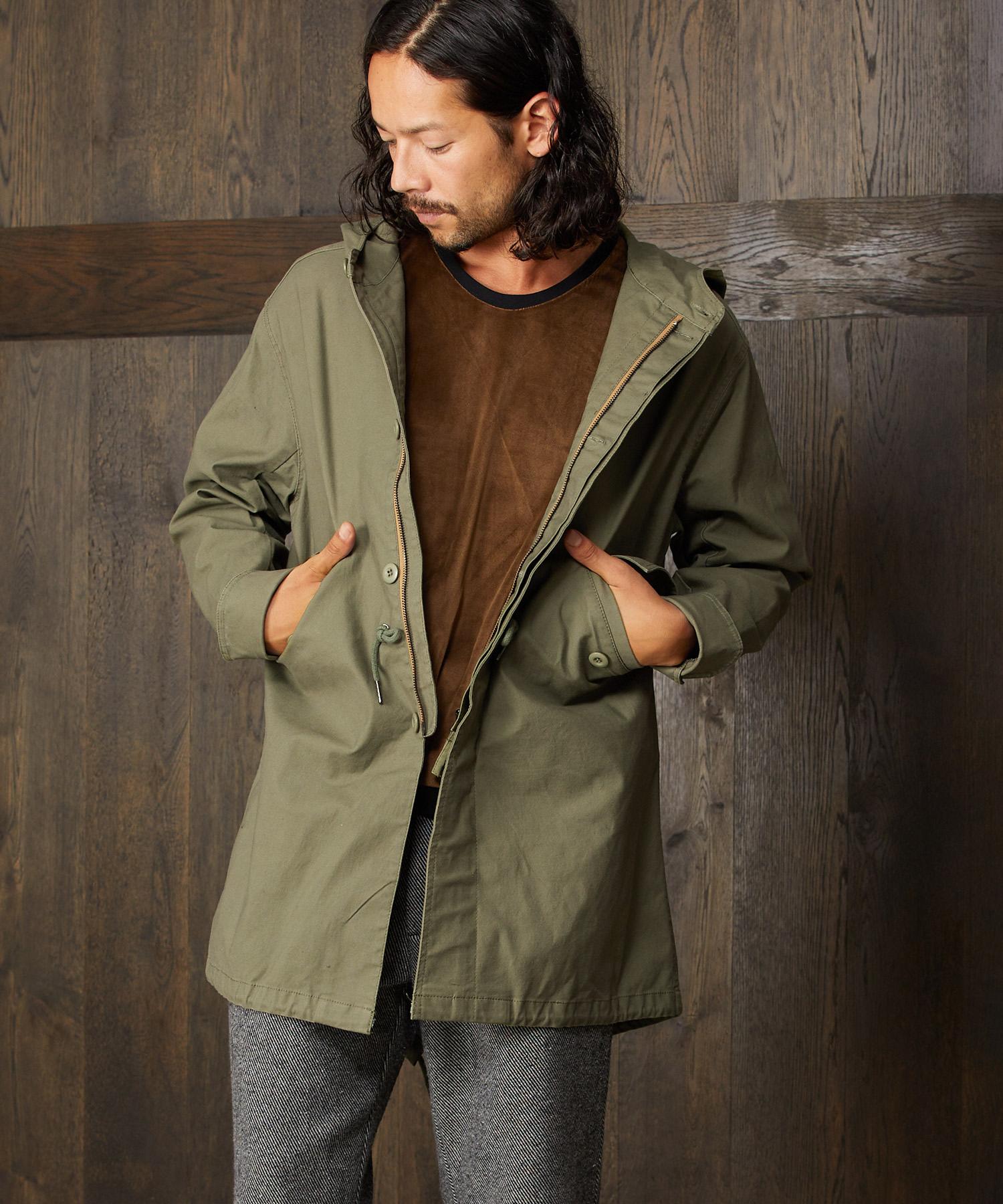 【CAMBIO(カンビオ)】【予約販売10月上旬~中旬入荷】Stretch Twill Loose Fit M-51 Field Coat フィールドコート