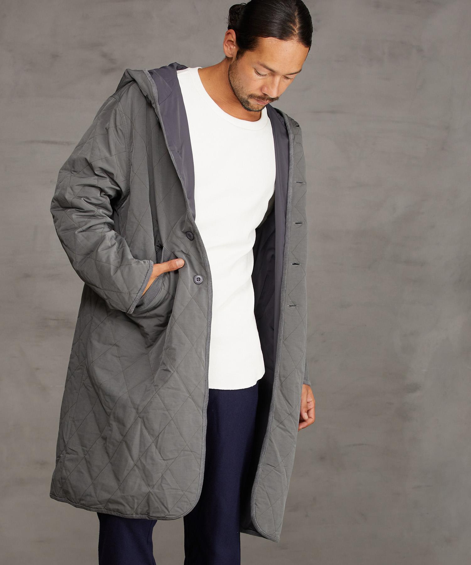 【CAMBIO(カンビオ)】【予約販売11月上旬~中旬入荷】Cotton Nylon Loose Fit Quilt Monster Coat コート