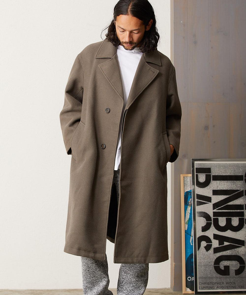 【CAMBIO(カンビオ)】【予約販売10月末~11月上旬入荷】Over Size Silhouette Chester Coat チェスターコート