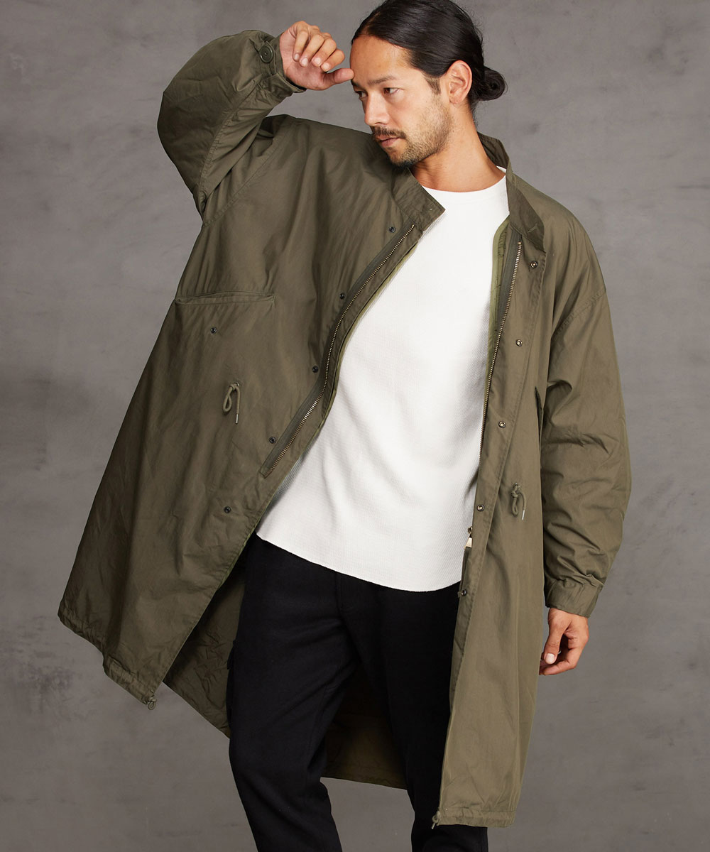 【CAMBIO(カンビオ)】【予約販売10月末~11月上旬入荷】Cotton Nylon Three Way Mods Coat モッズコート