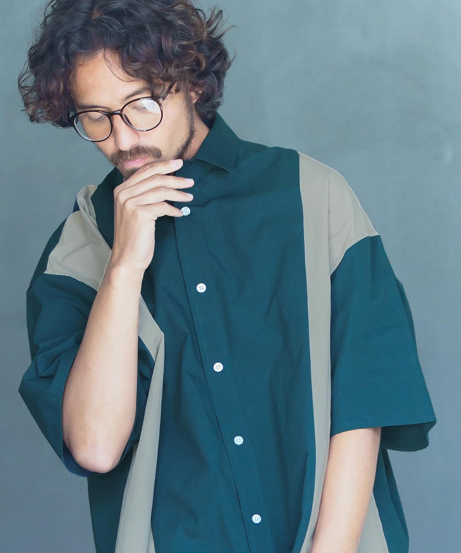 正規逆輸入品 新色追加して再販 ANGENEHM アンゲネーム Flip Over Size Short Sleeve MADE ANG-052 JAPAN シャツ Shirts IN
