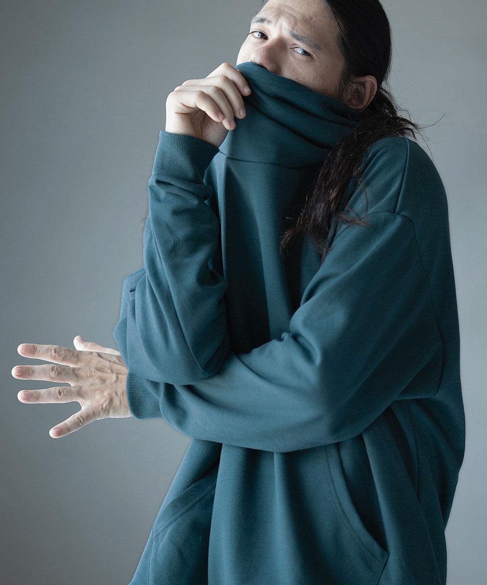 ANGENEHM アンゲネーム お気に入 限定特価 予約販売9月下旬~10月上旬入荷 Cardboard Knit VolumeNeck Big MADE Hooded JAPAN IN パーカー 2132-301AN Parka