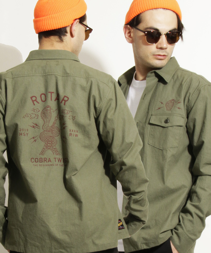 ROTAR 激安超特価 ローター 予約販売9月下旬~10月上旬入荷 COBRA TWIST rt2154020 シャツ おトク Military Shirt
