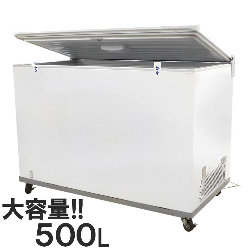 【中古】2015年 500L 冷凍ストッカー チェストフリーザー サンデン 鍵なし SH-500XB AC100V 地域限定送料無料