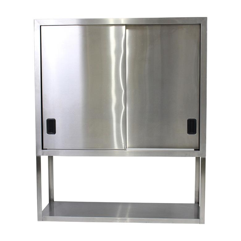 【中古】ステンレス製業務用吊戸棚 幅100cm シルバー 地域限定送料無料