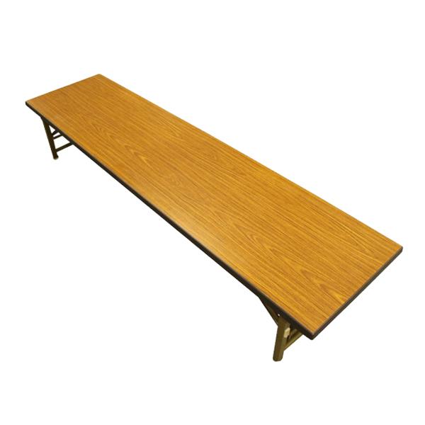 【中古】座卓 折りたたみ 5台セット 幅180 木目 地域限定送料無料 設置込