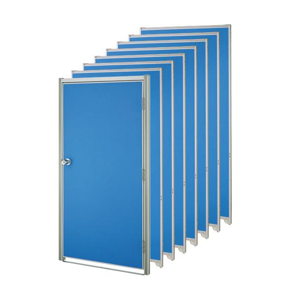 【中古】【完成品】【設置込】パーテーション パーティション(ドアつき) パネル 自立式 間仕切り W900×H1835 8枚セット