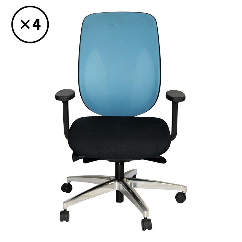 【中古】オフィスチェア 4脚セット giroflex (ジロフレックス) PLUS 地域限定送料無料