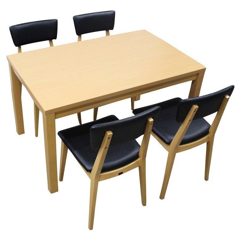 【中古】ダイニングテーブル チェアセット 4人 W1200 ラウンジテーブル QUON 地域限定送料無料