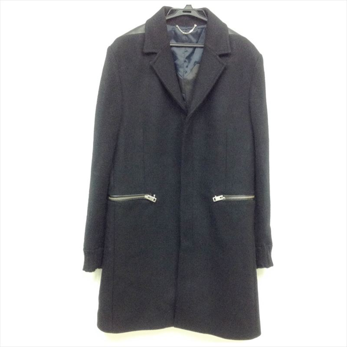 【中古】ディーゼル メンズ ロングコート ブラック サイズL