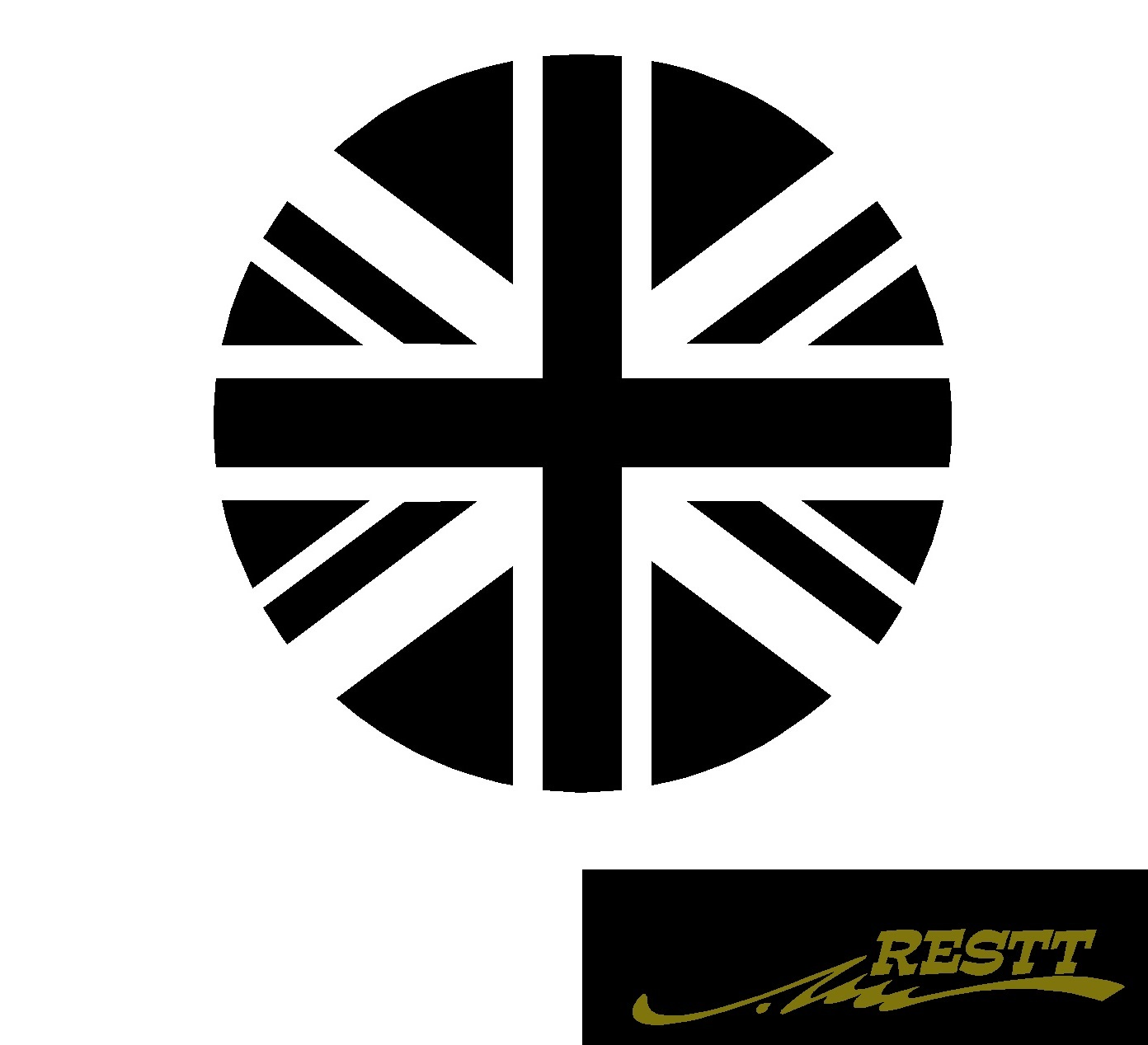 選択 豊富なカラー20色から作成クールなデザイン ユニオンジャック 丸デザイン ロゴ カッティングステッカー 中サイズ 春の新作続々
