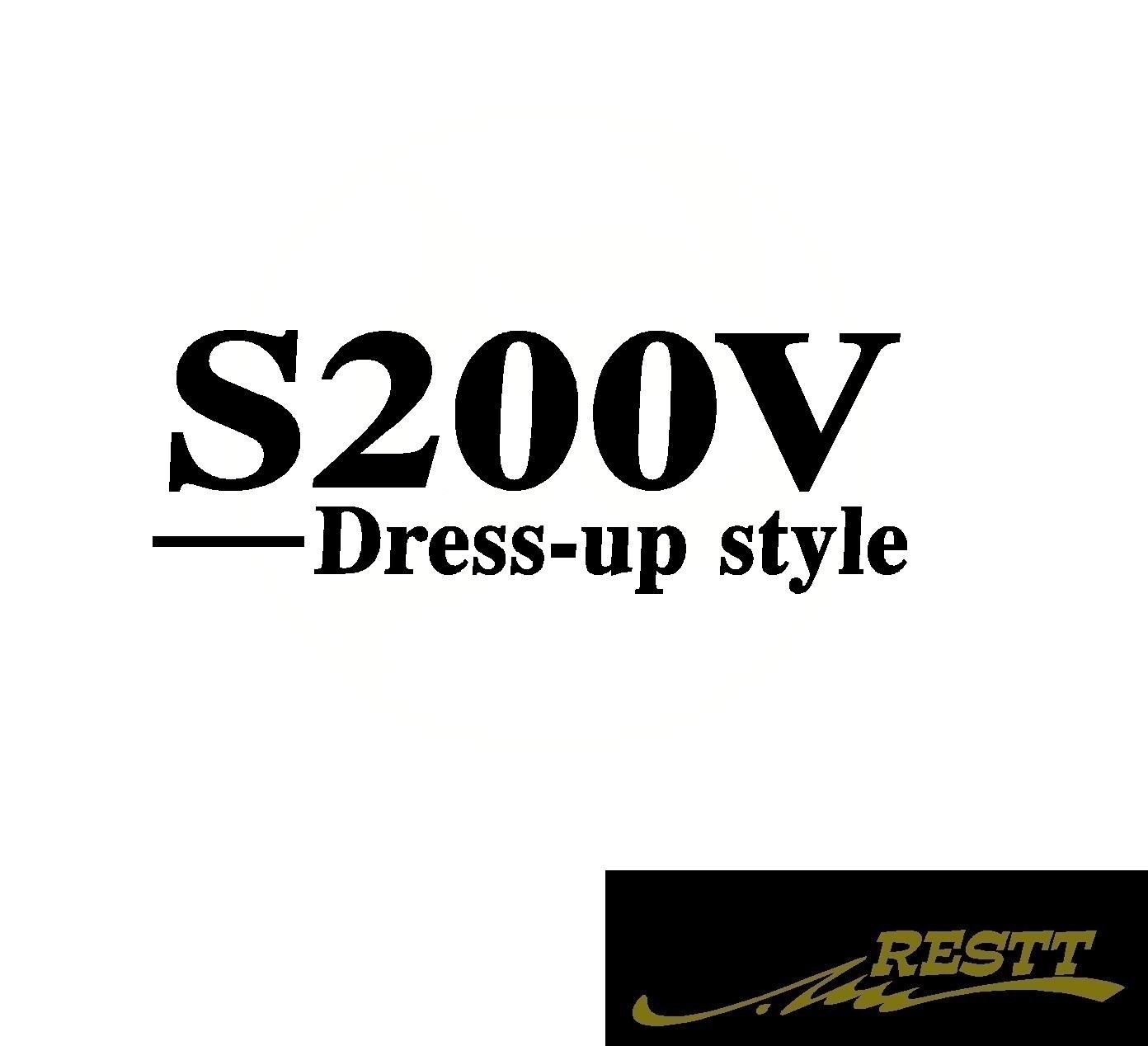 豊富なカラー20色から作成ドレスアップステッカー ハイゼットカーゴ 2020 新作 S200V ドレスアップスタイル ロゴ カッティングステッカー 中サイズ 型式 おしゃれ ステッカー ダイハツ おすすめ かっこいい デザイン DAIHATSU