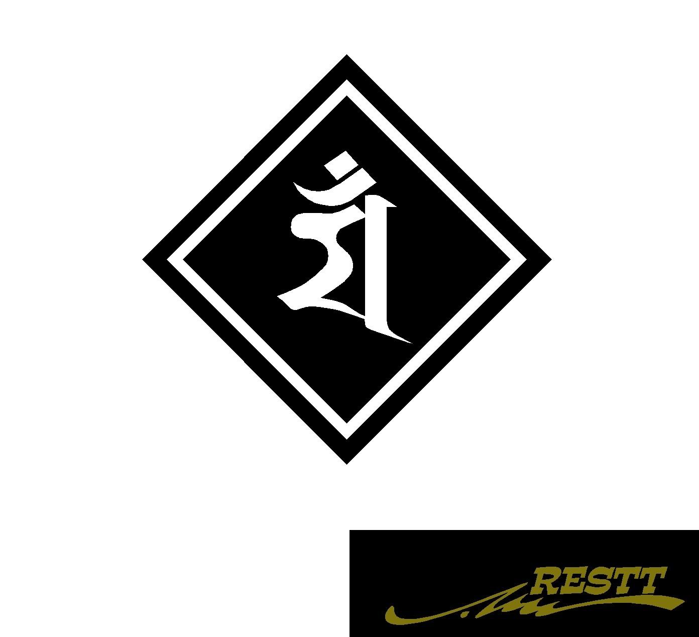 春の新作 国際ブランド 豊富なカラー20色から作成おしゃれなステッカー 干支 梵字 卯 ロゴ 小サイズ うさぎ カッティングステッカー