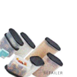 ♪ #ブラック【Tupperware】タッパーウェアタッパーウェアベーシックスギフト/MMだ円(ブラック)<日用雑貨><食品保存容器><ロール式ラベル><食材・調味料><ストック><キッチン用品>