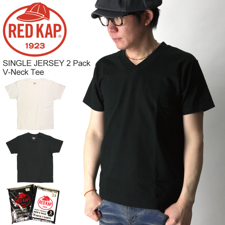 8977b5eb3f91f9 【送料無料】REDKAP(レッドキャップ)SingleJersey2パックVネックTシャツ