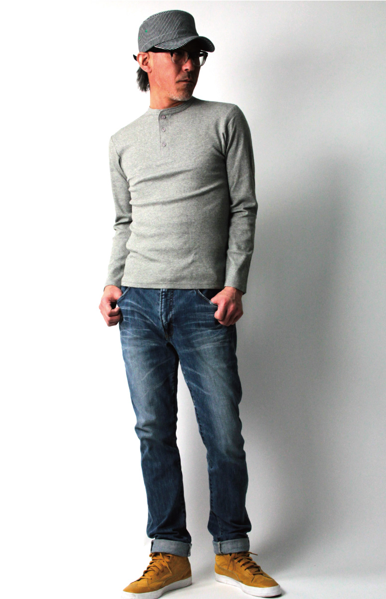 ★Point 10 times ★ AVIREX (red-throated loon Rex) Avi Rex daily series  henley neck Longus Reeve T-shirt cut-and-sew Ron T men gap Dis