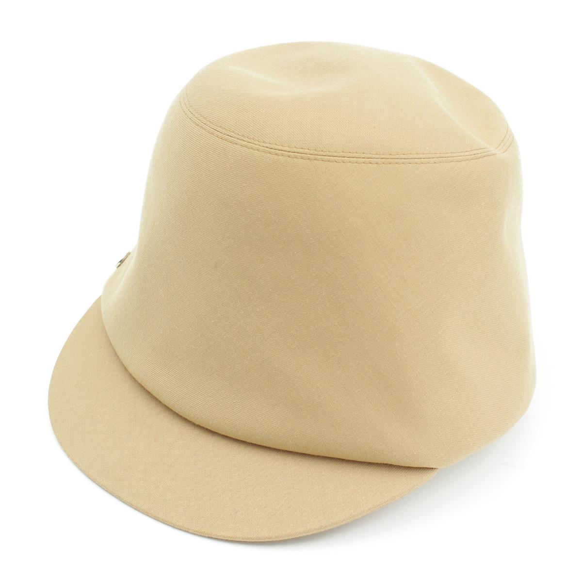【エルメス】Hermes 2017年 キャスケット 帽子 ベージュ 56 【中古】【鑑定済・正規品保証】【送料無料】26788