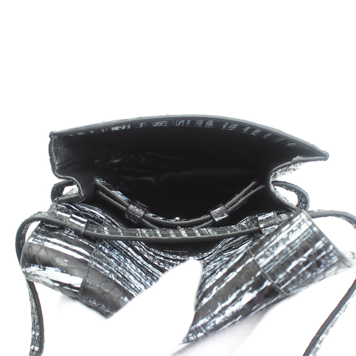 ジルサンダー Jil Sander パイソン ショルダーバッグ ブラック×ホワイト鑑定済・正規品保証送料無料 269bgIyvf76mY