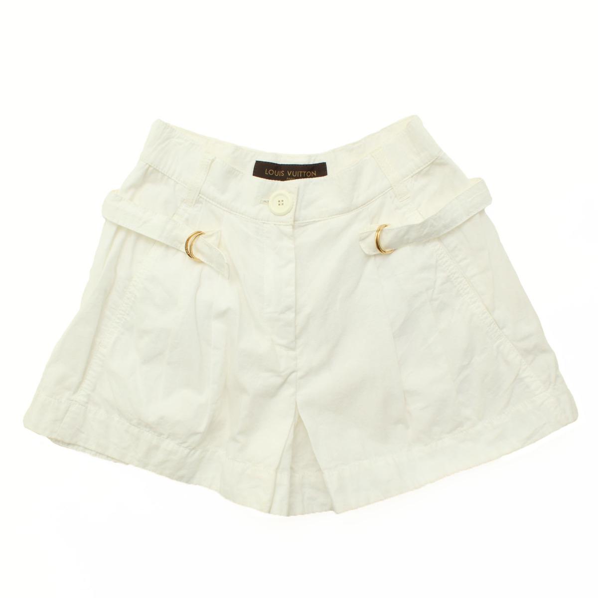【ルイヴィトン】Louis Vuitton ショートパンツ ホワイト 34 【中古】【鑑定済・正規品保証】28350