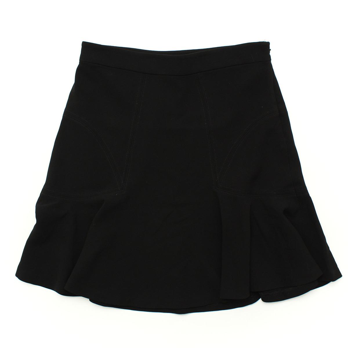 【ダイアン フォン ファステンバーグ】Diane Von Furstenber 裾フレア スカート ブラック 4 未使用【中古】【鑑定済・正規品保証】【送料無料】29024