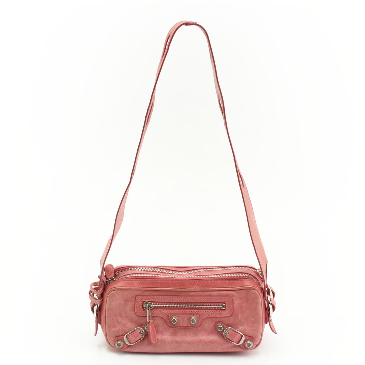 【バレンシアガ】Balenciaga ジャイアント シック レザー ショルダーバッグ 203221 ピンク 【中古】【鑑定済・正規品保証】30975