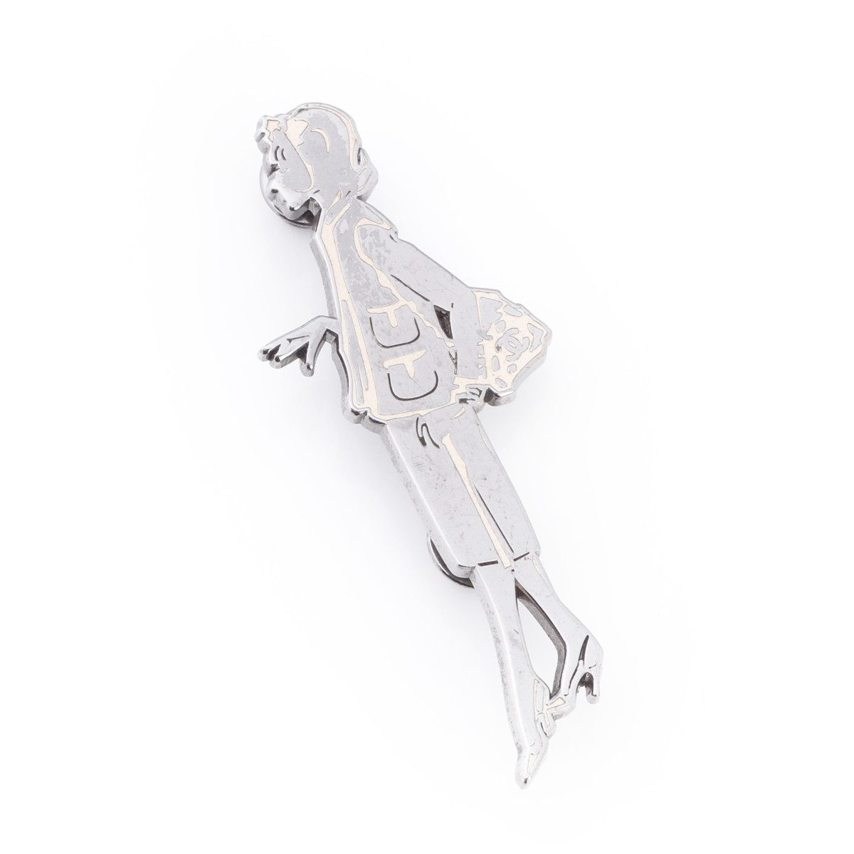 【シャネル】Chanel 03P マドモアゼル 人形モチーフ ブローチ シルバー×ピンク 【中古】【鑑定済・正規品保証】29402