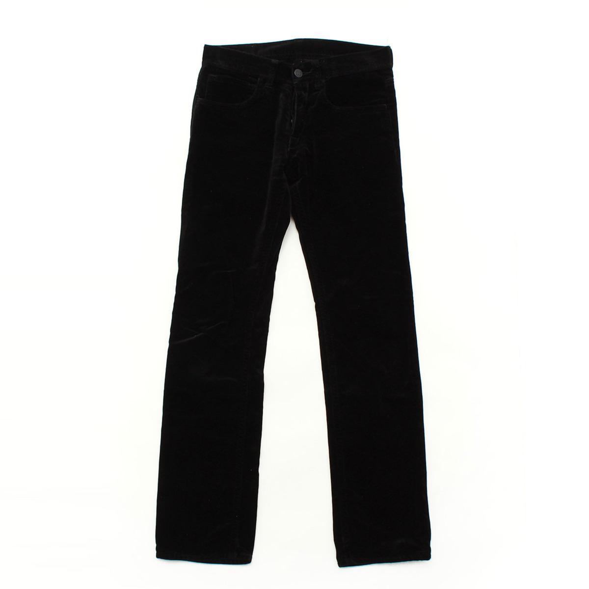 【グッチ】Gucci ベロア パンツ ブラック 【中古】【鑑定済・正規品保証】30072
