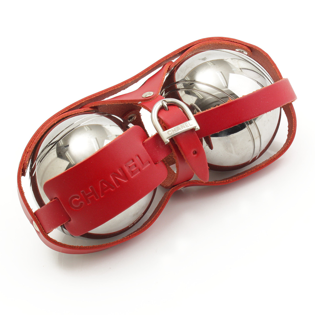 【シャネル】Chanel ノベルティ ペタンクボール 2個セット 【中古】【鑑定済・正規品保証】【送料無料】29417