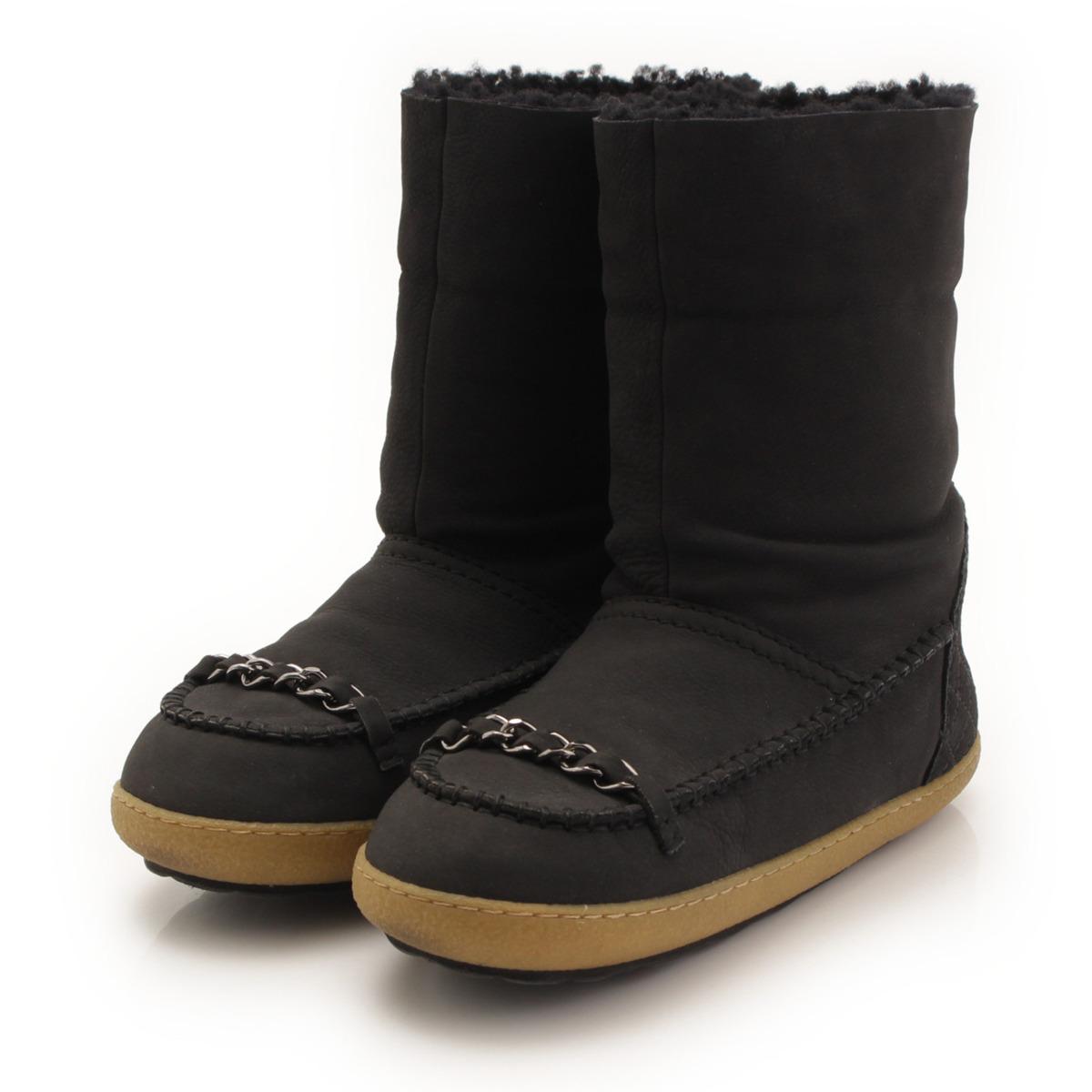【シャネル】Chanel ムートン レザー チェーン ブーツ ブラック 35 【中古】【鑑定済・正規品保証】【送料無料】33592
