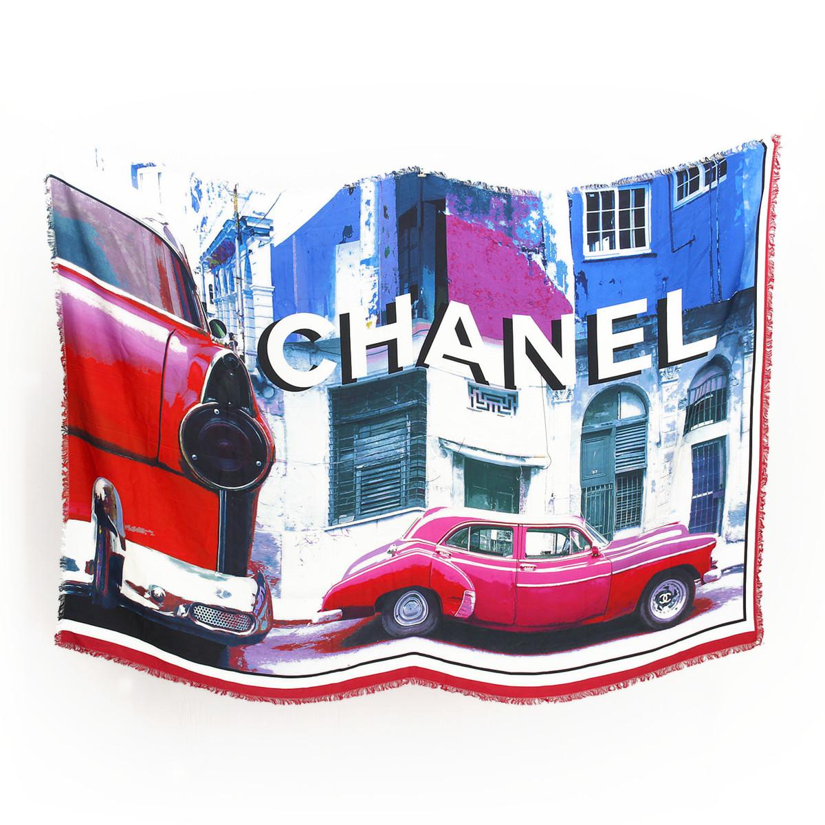 【シャネル】Chanel シルク 大判 ストール Exclusive Edition December 2016 【中古】【鑑定済・正規品保証】【送料無料】34084