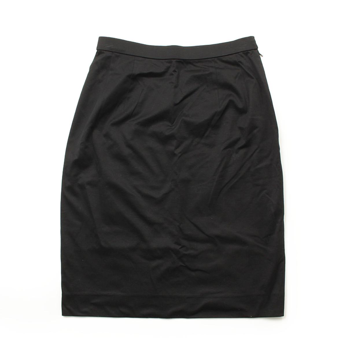 【レオナール】LEONARD ストレッチ スカート ブラック 70 【中古】【鑑定済・正規品保証】【送料無料】38479