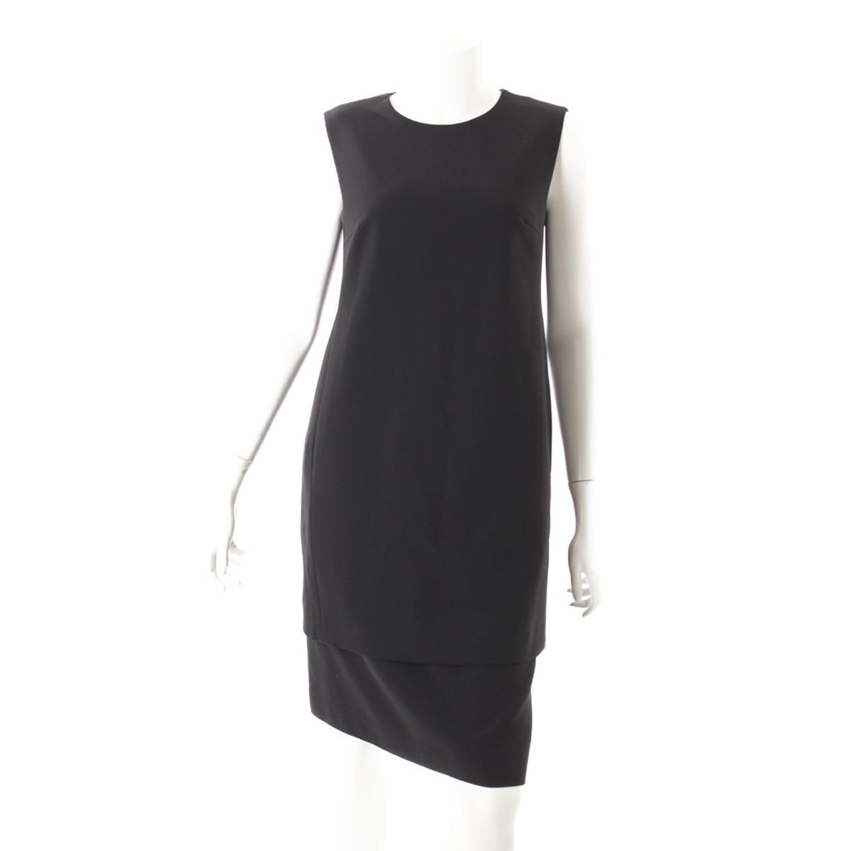 【フォクシーニューヨーク】Foxey New York Over Mini スカート付 ワンピース 32632 ブラック 40 【中古】【鑑定済・正規品保証】40649