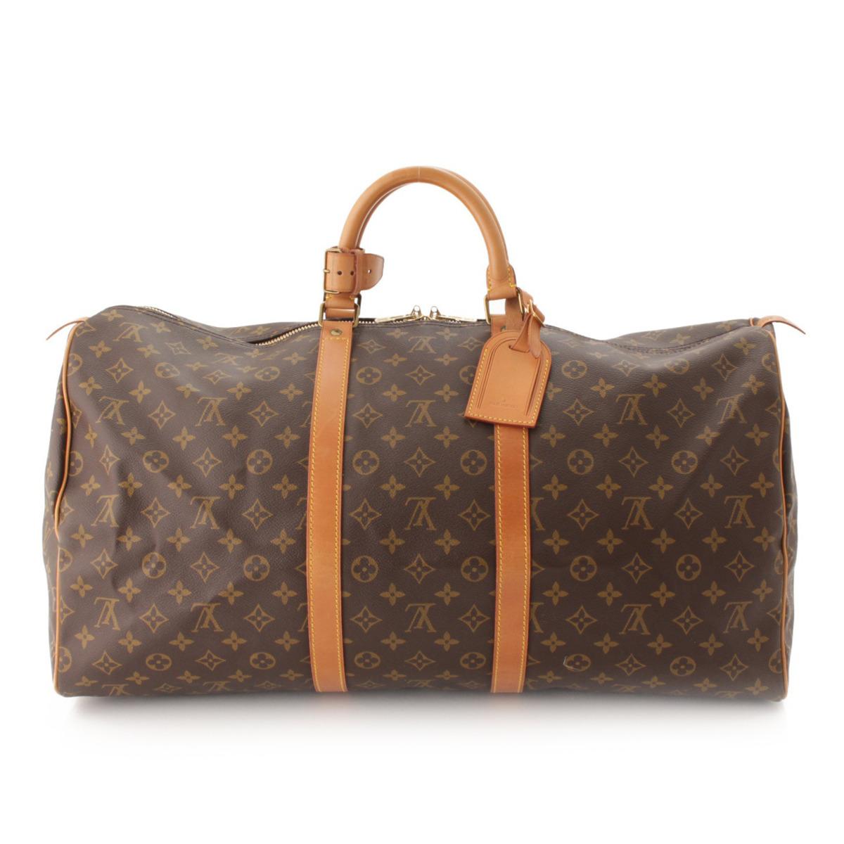 【ルイヴィトン】Louis Vuitton モノグラム キーポル55 ボストンバッグ M41424 【中古】【鑑定済・正規品保証】52825