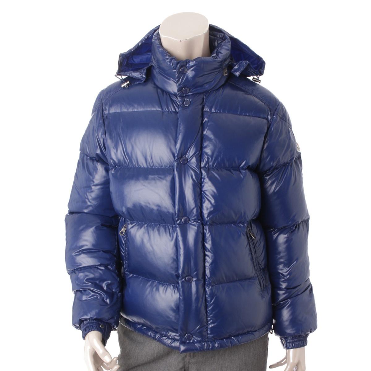 【モンクレール】Moncler EVER エバー ダウンジャケット 41301 ブルー 1 【中古】【鑑定済・正規品保証】54625