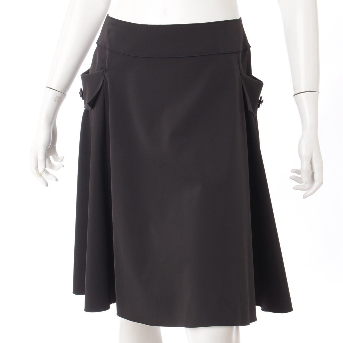 【フォクシーニューヨーク】Foxey New York ポケット付き スカート 25186 ブラック 40 【中古】【鑑定済・正規品保証】55598