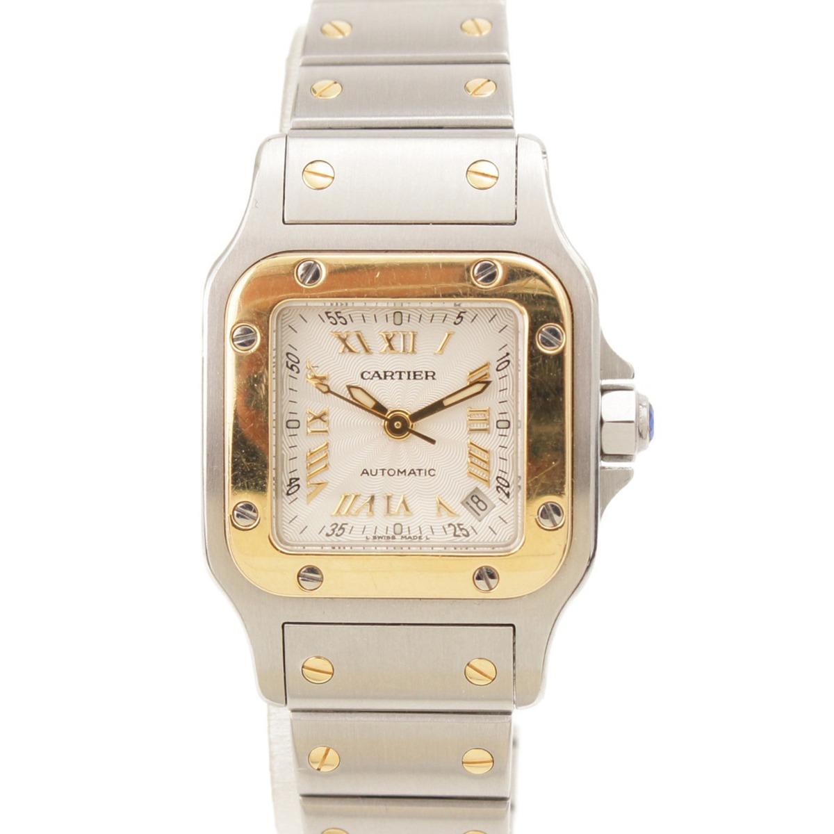 【カルティエ】Cartier サントス ガルベ 自動巻き 腕時計 W20045C4 シルバー×ゴールド 【中古】【鑑定済・正規品保証】57660