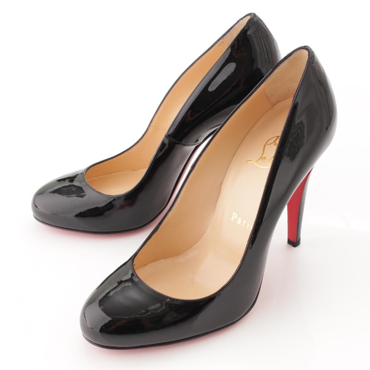 check out 2b104 8a1d1 Christian Louboutin RON RON patent heel pumps black 36 1/2-free 57595
