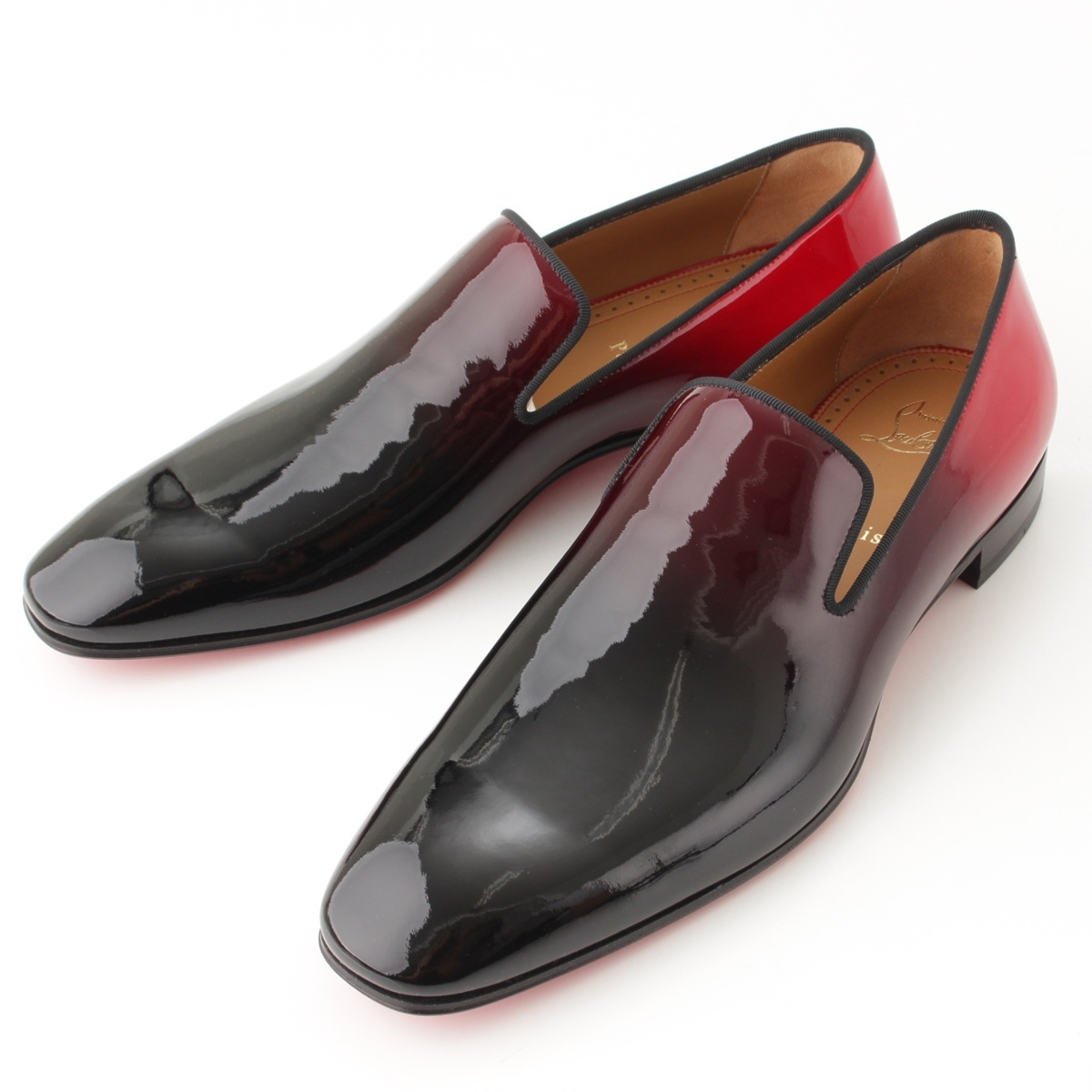 finest selection e568a dd4d6 Christian Louboutin act product Dandelion Flat men patent flattie black X  red 42-free 61658