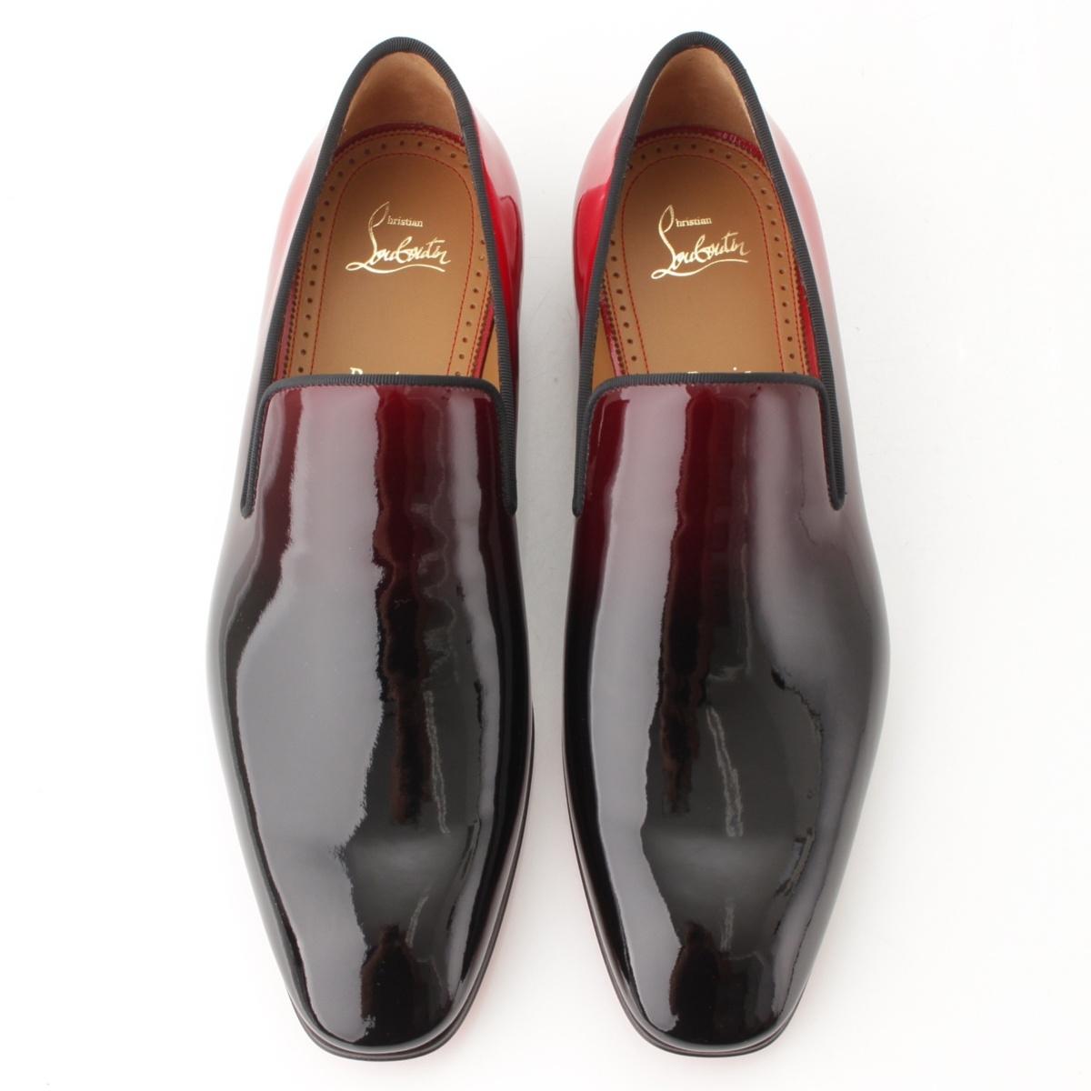 finest selection bf609 a819e Christian Louboutin act product Dandelion Flat men patent flattie black X  red 42-free 61658