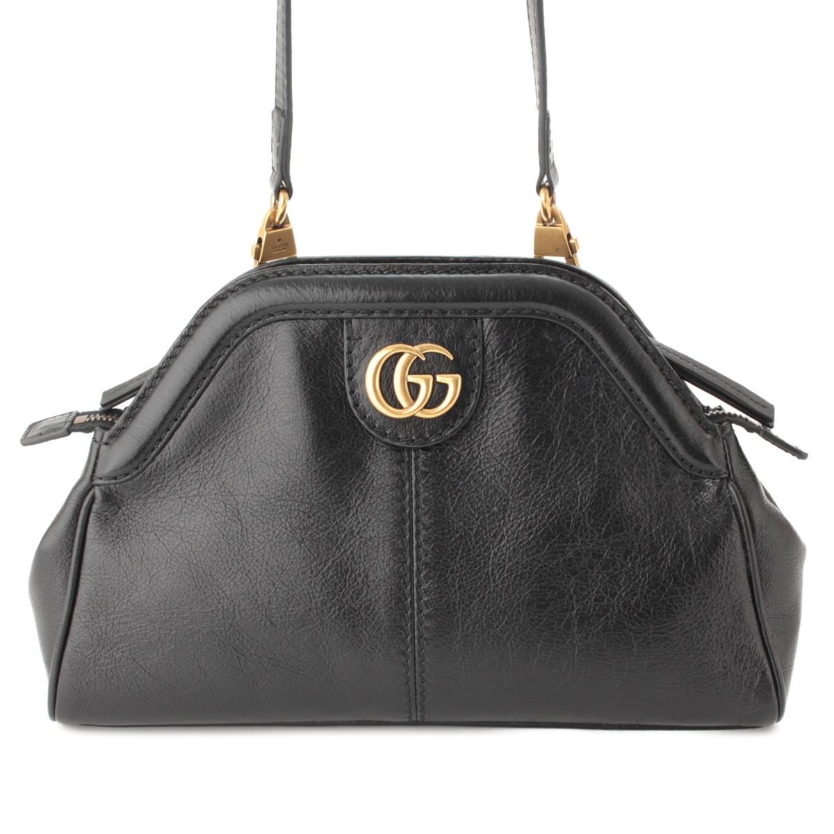 【グッチ】Gucci リベル スモール キャットヘッド レザー ショルダーバッグ 524620 ブラック 【中古】【鑑定済・正規品保証】64463