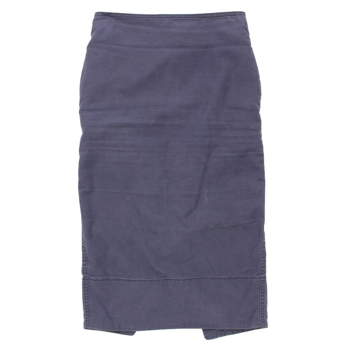 【ソノタ】 MADISON BLUE マディソンブルー バックサテン タイトスカート ネイビー 1 S 【中古】【鑑定済・正規品保証】68862