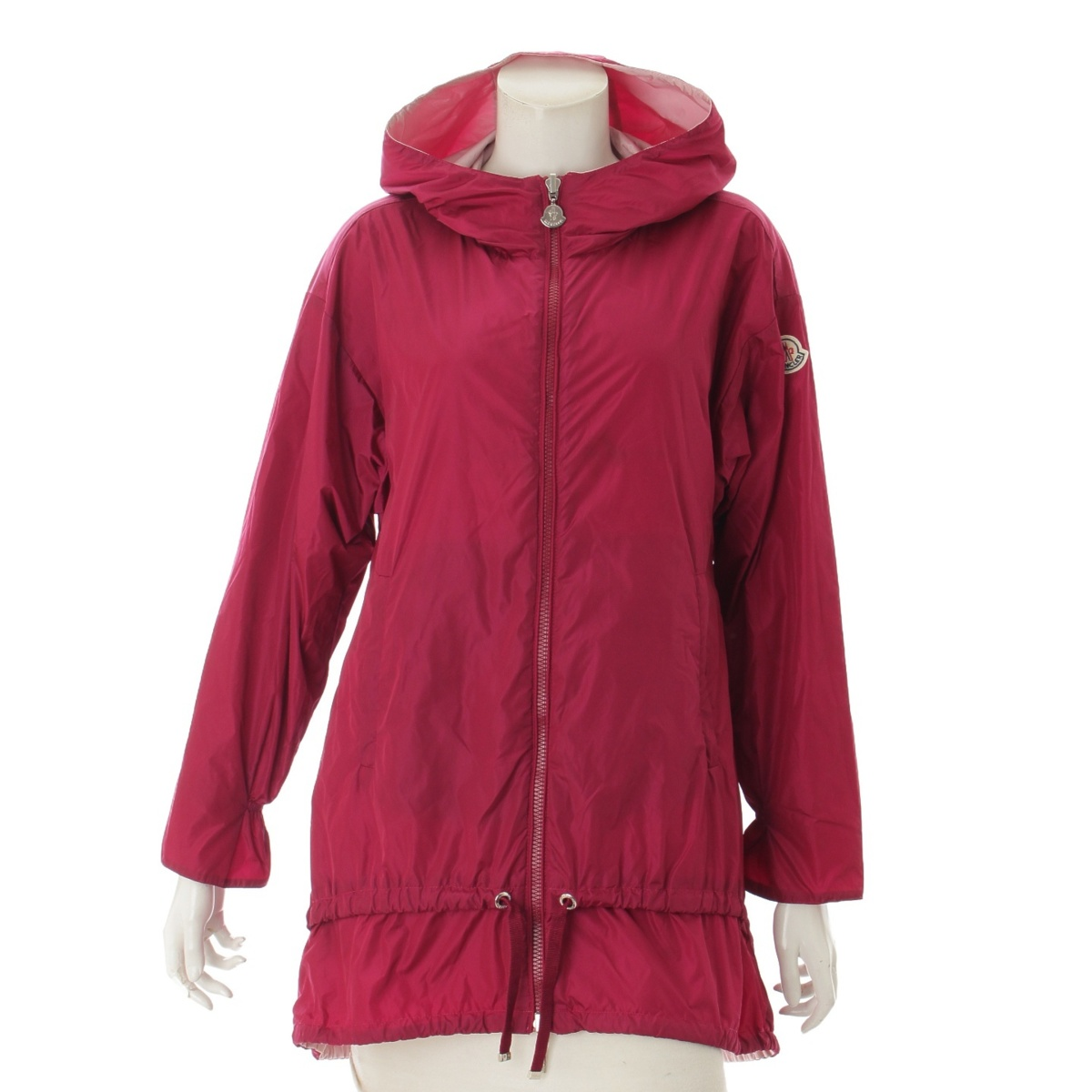 【30%OFFセール】【モンクレール】Moncler GROUCHY ナイロン リバーシブル コート ピンク 0 【中古】【鑑定済・正規品保証】69990