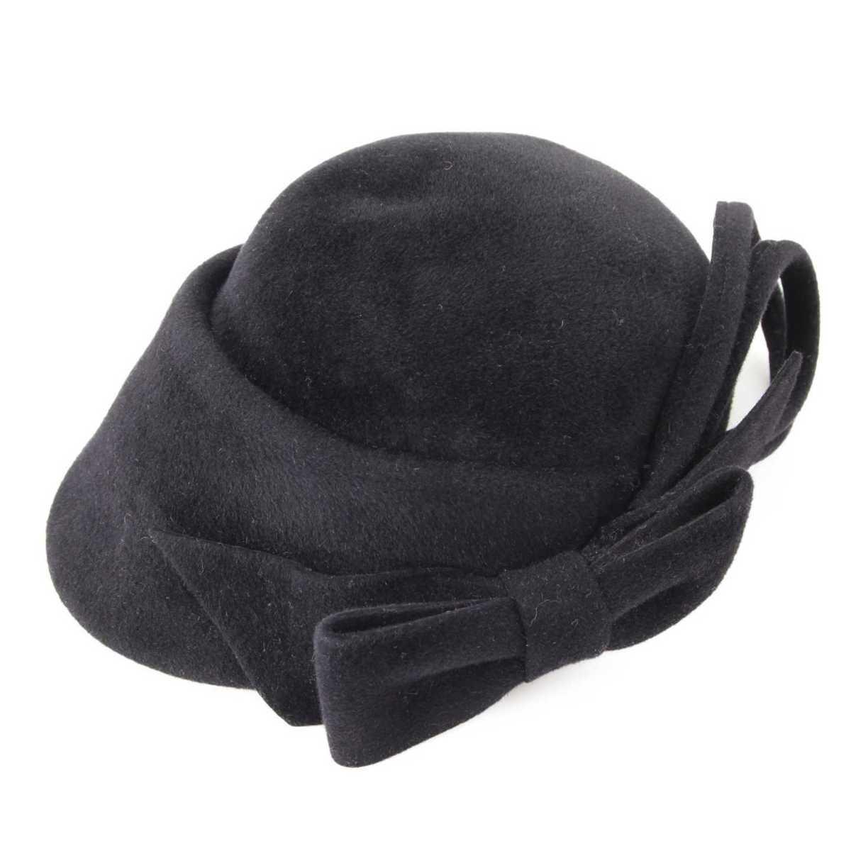 【ソノタ】 ミサハラダ 帽子 キャップ ブラック 【中古】【鑑定済・正規品保証】75599