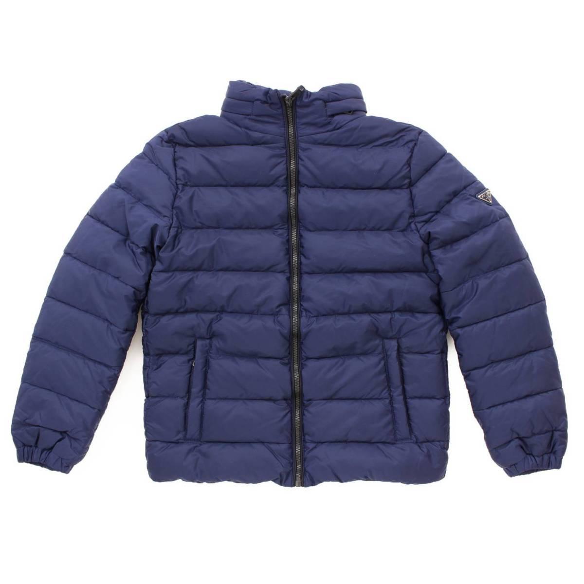 【プラダ】Prada キッズ 子供服 フード ダウン ジャケット ブルー 10 【中古】【鑑定済・正規品保証】77872