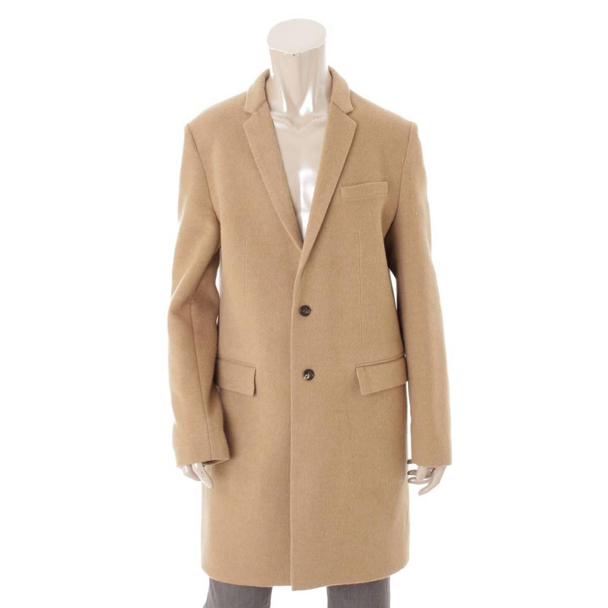 【ディオールオム】Dior Homme メンズ ウール コート ベージュ 48 【中古】【鑑定済・正規品保証】84131