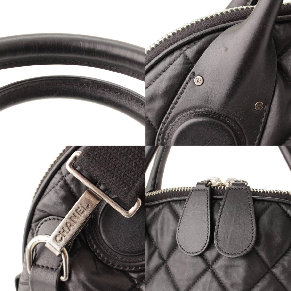 シャネル Chanel マトラッセ ナイロン レザー 2WAY ハンドバッグ A66502 ブラック 15番台鑑定済・正規品保証 83447OXkZPui