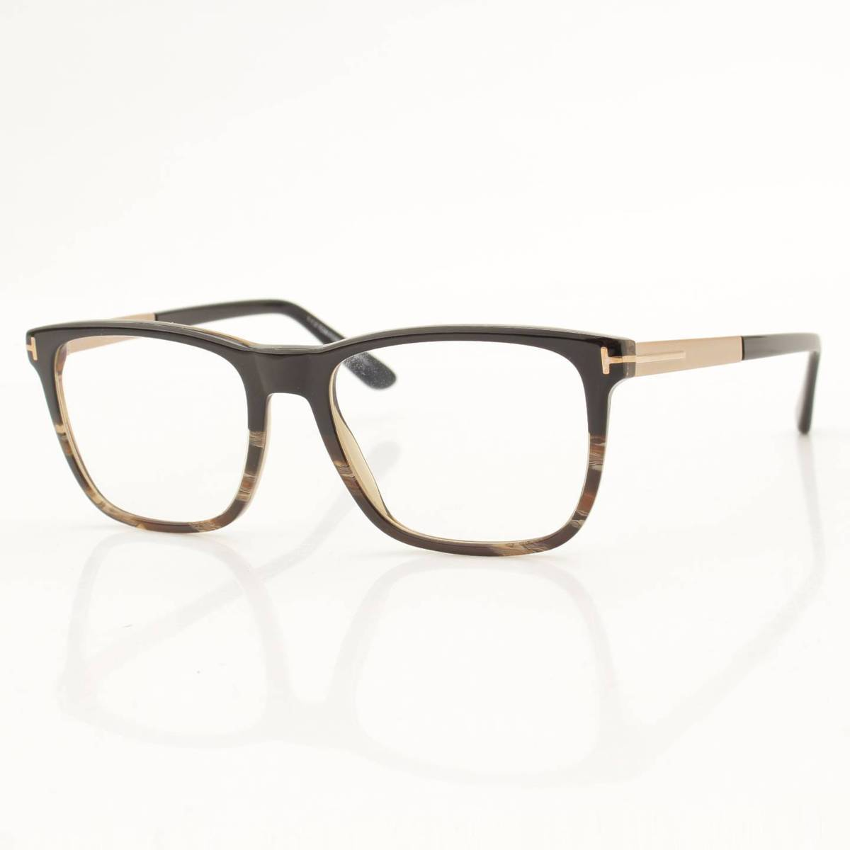 【トムフォード アイウェア】Tom Ford Eyewear 眼鏡 マーブルフレーム メガネ ブラック 【中古】【鑑定済・正規品保証】84303