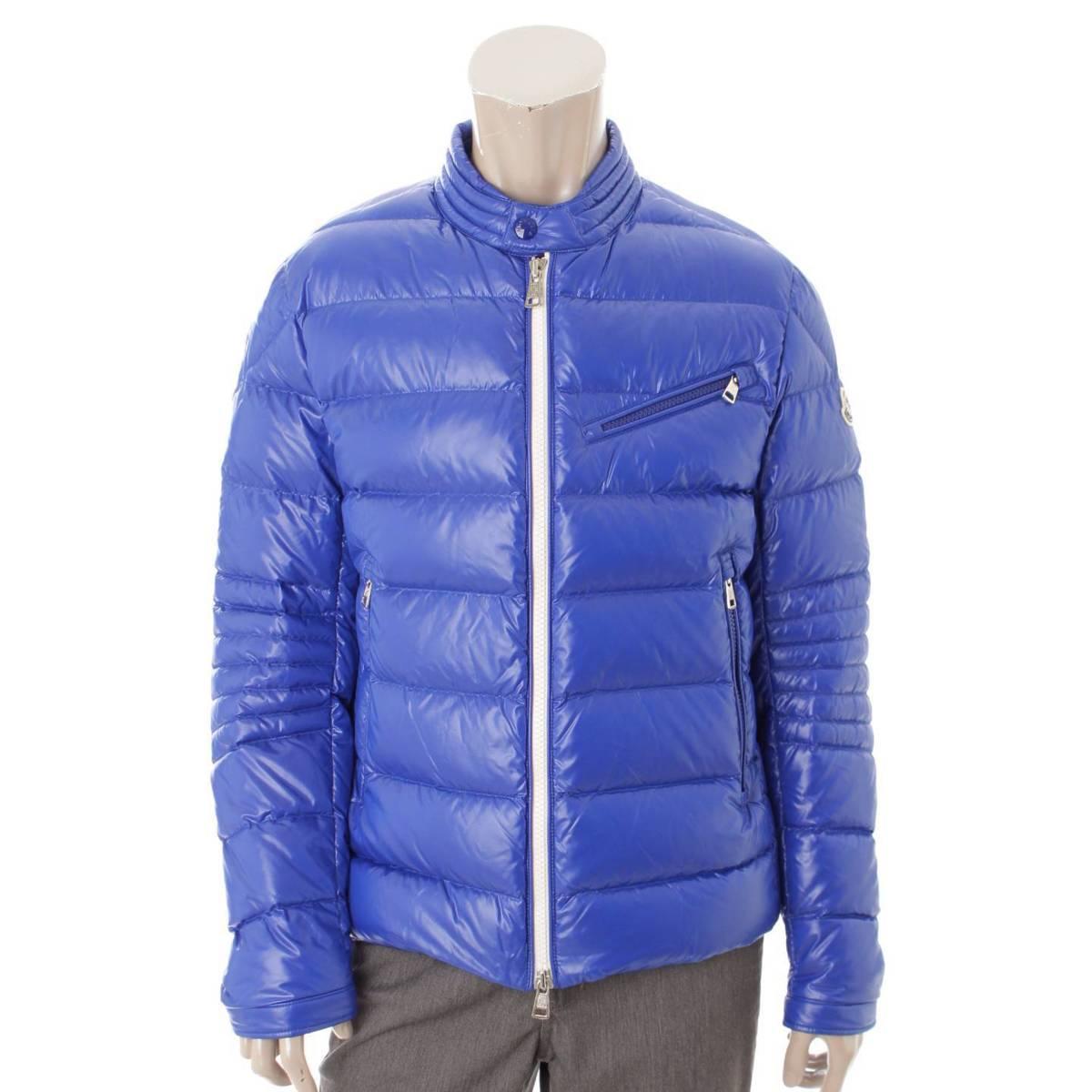 【モンクレール】Moncler メンズ BERRIAT ダウンジャケット 40916 ブルー 3 【中古】【鑑定済・正規品保証】86629