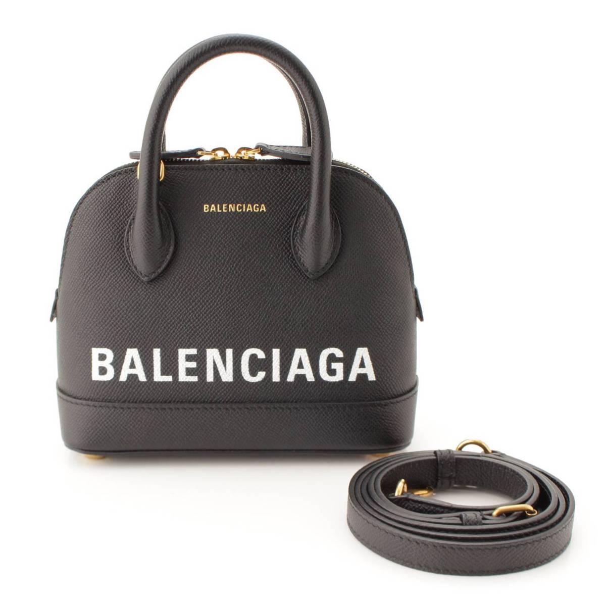 【バレンシアガ】Balenciaga ヴィル 2WAY トンハンドルバッグ 550646 ブラック 【中古】【鑑定済・正規品保証】88135